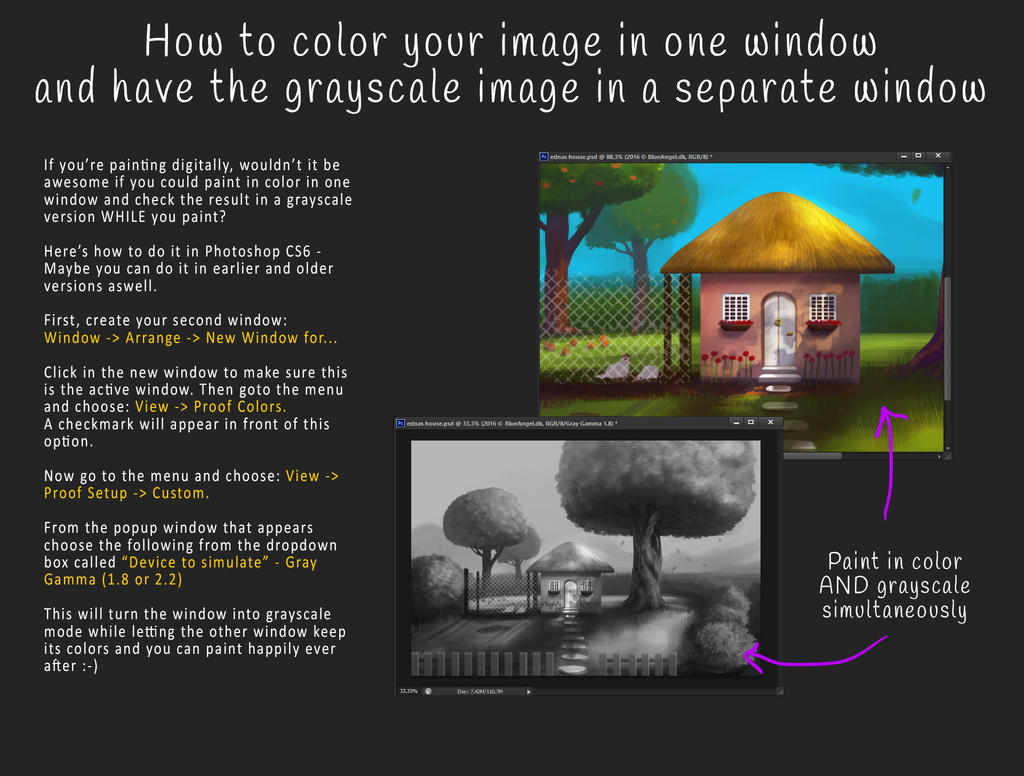 Tutorial - color and grayscale version