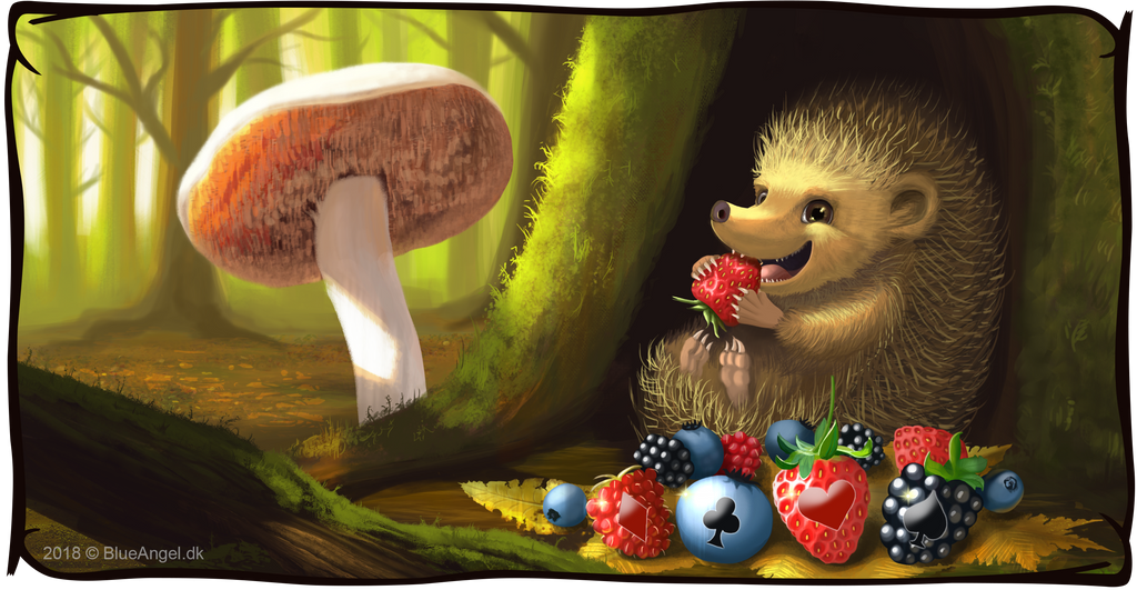Lucky Hedgehog - Victory image commission