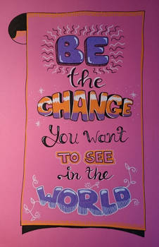 Wise words (with Posca markers)