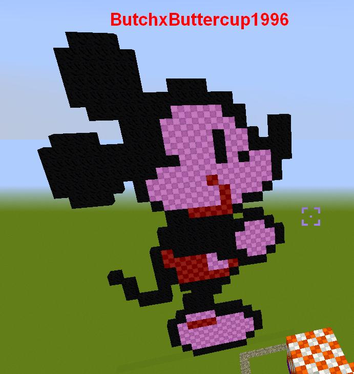 minecraft starring mickey mouse by butchxbuttercup1996