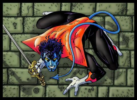Nightcrawler Jim Lee X-Men Card Series 1 Re-Color
