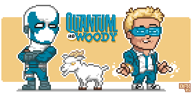 Quantum and Woody... and Goat by DanOcean