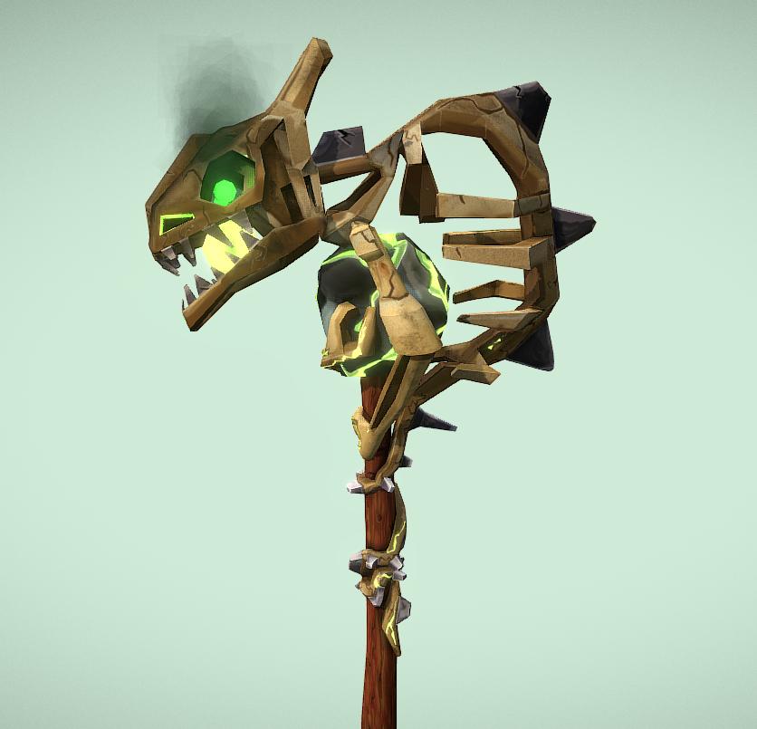 Wow Weapon design - Druid staff by MiekeYperman