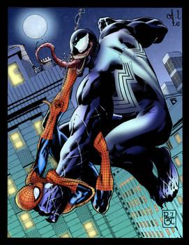 Spider-man VS Venom (colored)