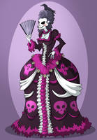 Rococo Skeleton Colored by Sodano