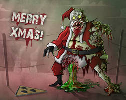 Infected Santa by Sodano