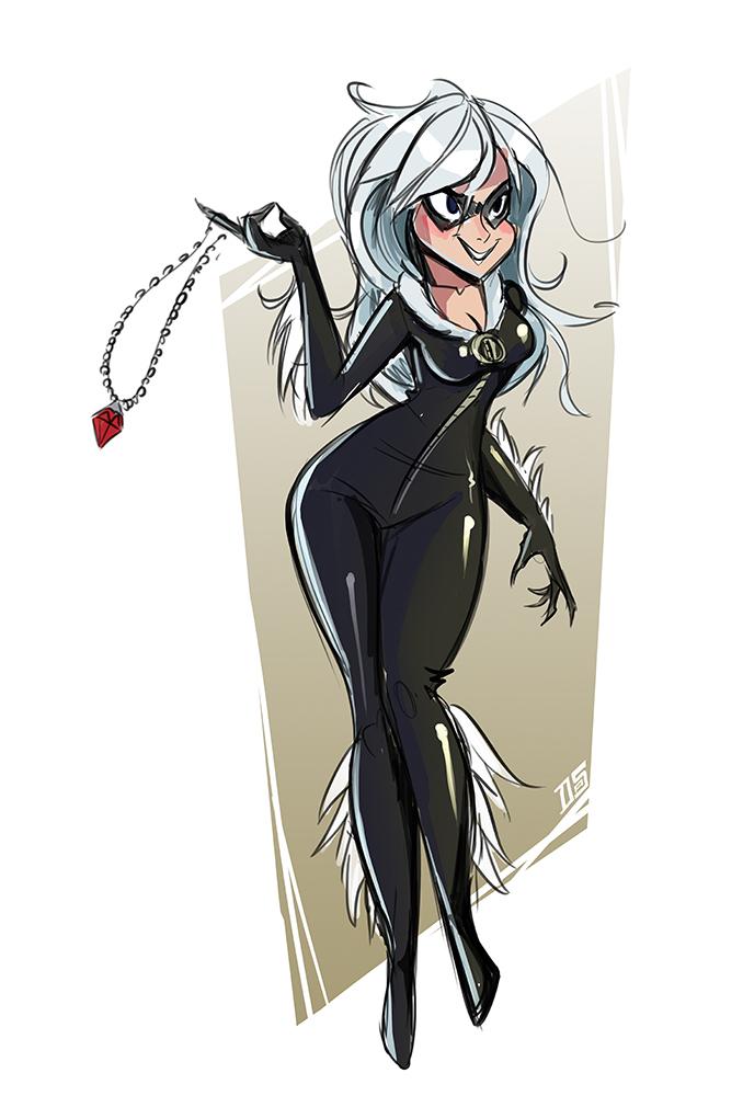 Black Cat sketch by Sodano