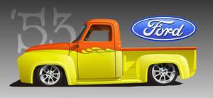 '53 Ford Truck Effie by kenpoist