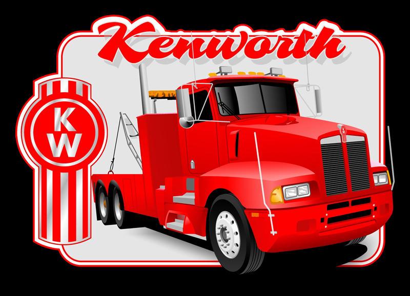 kenworth logo vector t