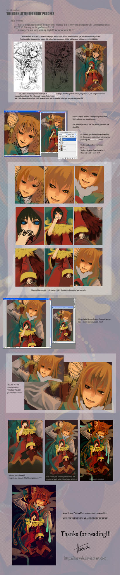 Making of No more lil redhood by isfairytell