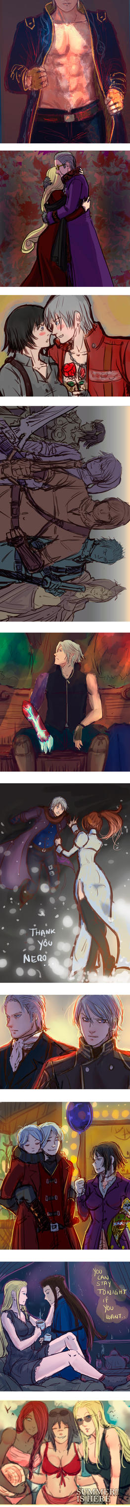 +(- Devil may cry doodles [6] -)+ by AngelJasiel