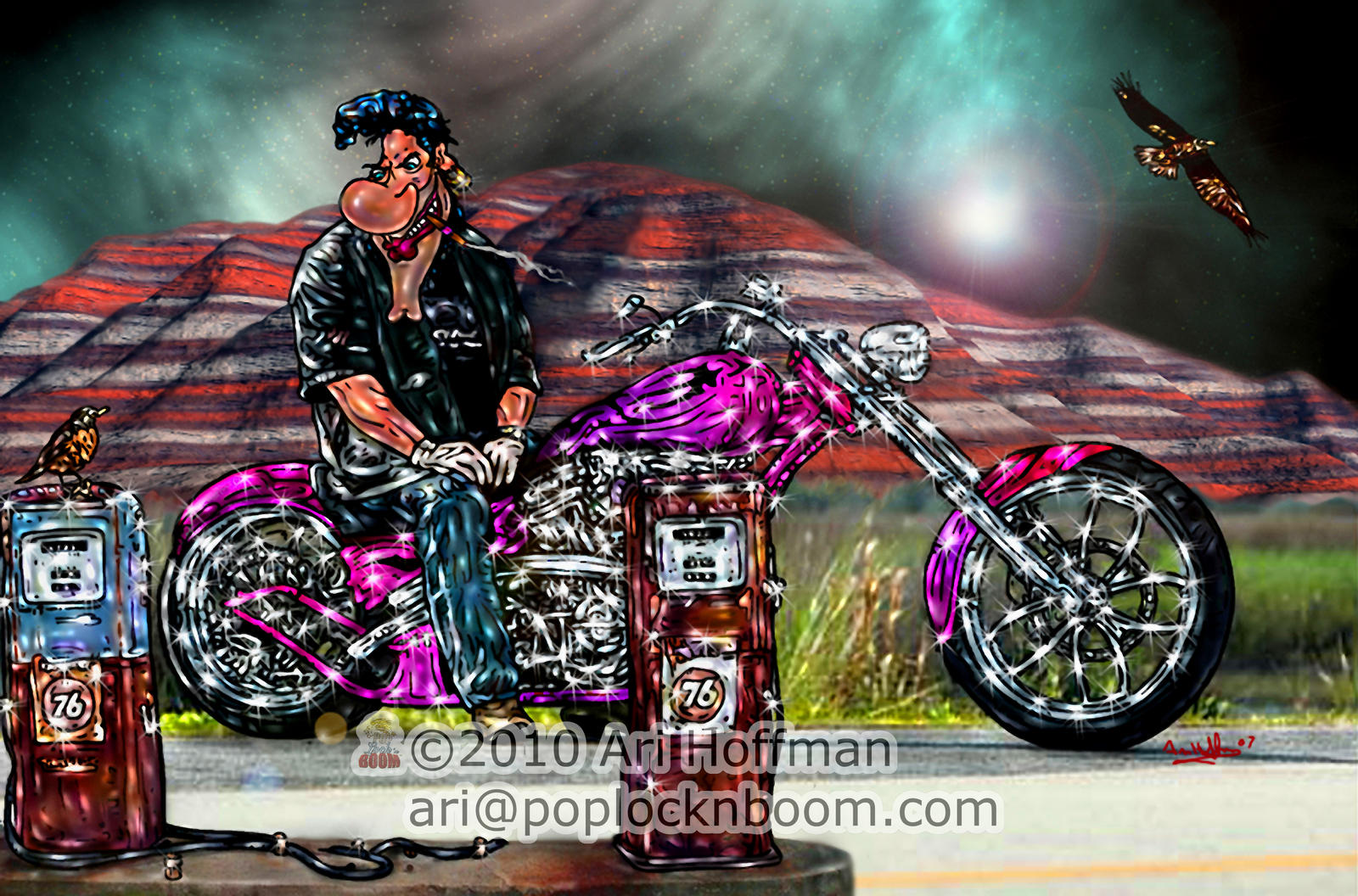 Cartoon Elvis.... Art Work by arihoff