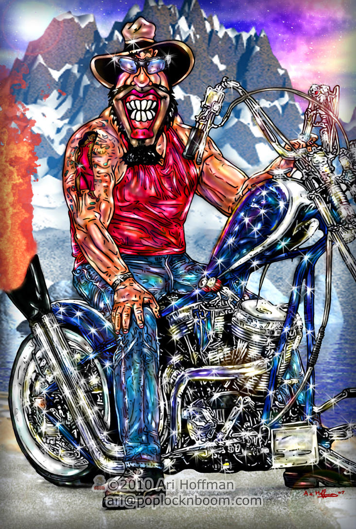 American Chopper.. Art work by arihoff