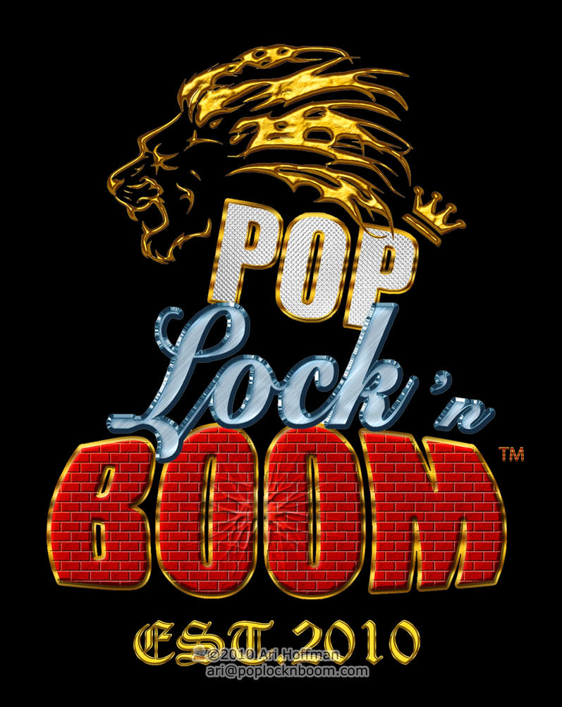 Pop Lock n' Boom Logo Art Work by arihoff