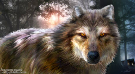 The Night Wolf...Art Work by arihoff