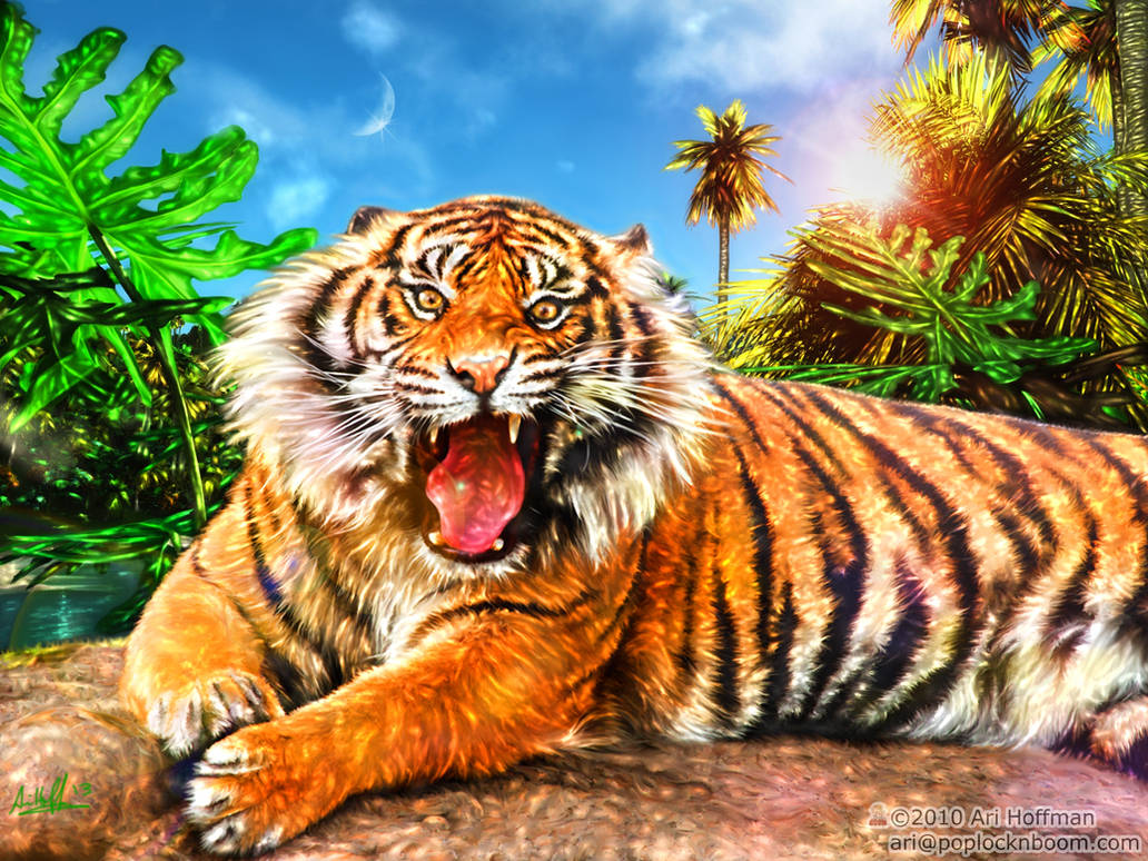 The Land Of The Tiger.... Art Work