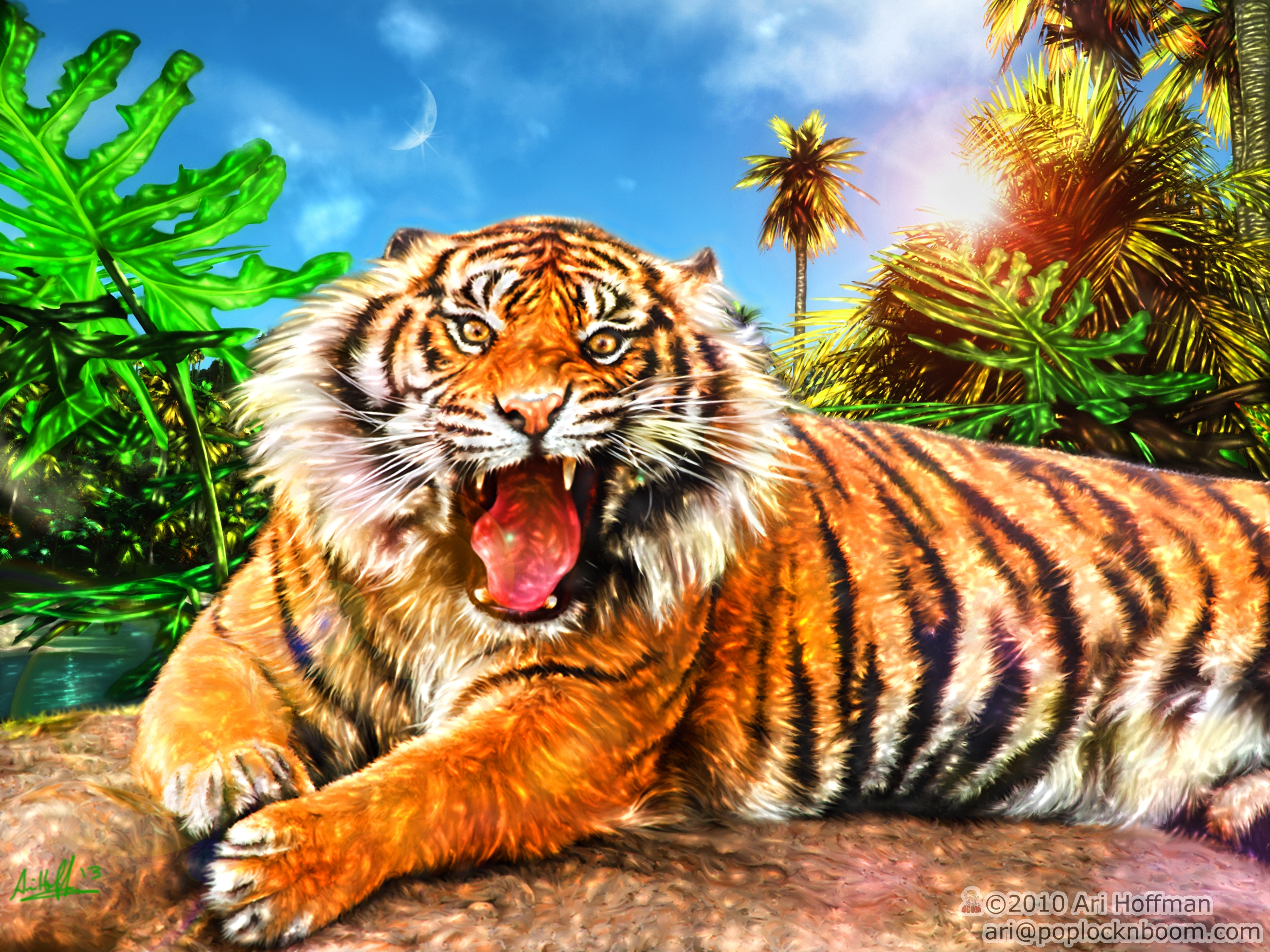 The Land Of The Tiger.... Art Work by arihoff