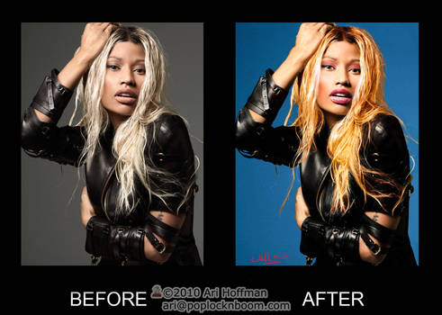Nicki Minaj photo retouch