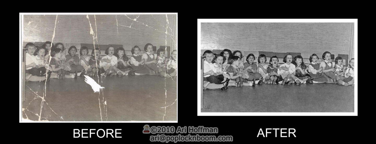 Kindergarden Photo Restoration for client by arihoff