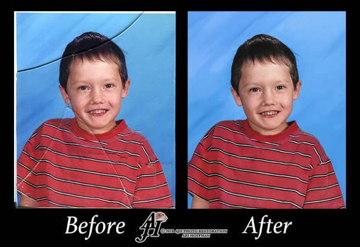 Young Boy Photo Restoration