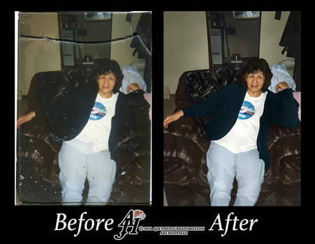 Relaxing Woman Photo Restoration