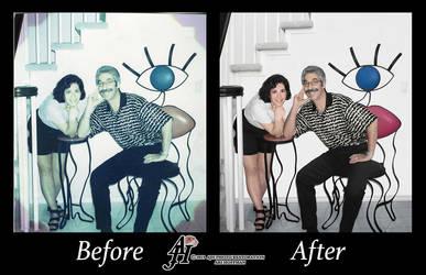 Beautiful Couple Photo Restoration