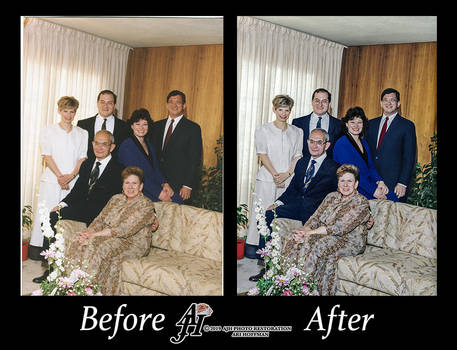 Family Photo In The 1990's Photo Restoration