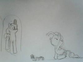 Pinkie Pie Orphan by TeslaSong