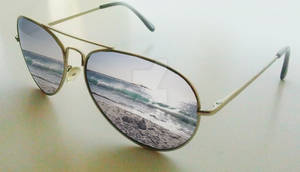 Sunglasses beach Reflection