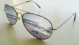 Sunglasses beach Reflection