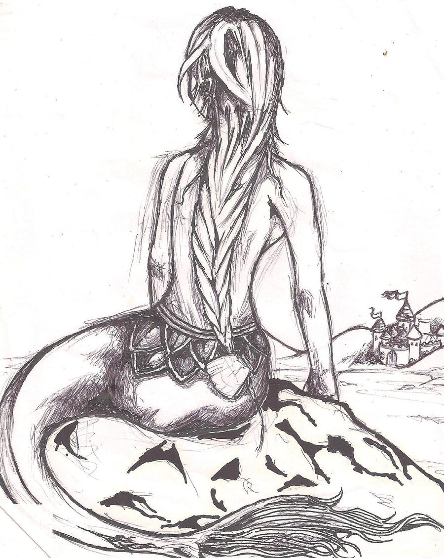 mermaid sketch by e-rain-e on DeviantArt