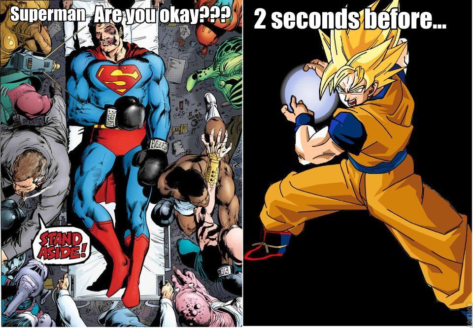 Goku And Superman Friends Goku v s superman  by jozartoGoku Vs Superman Science