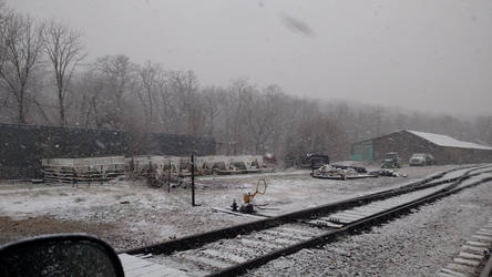 Wintery Railroad by Messinground