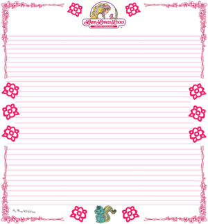 Lady LovelyLocks Hand Made Envelope Paper