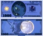 Princess Luna 1000 bits bill