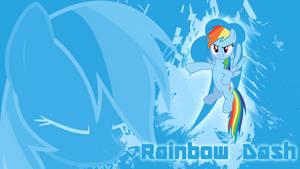 Dashing Against the Wind - Rainbow Dash Wallpaper