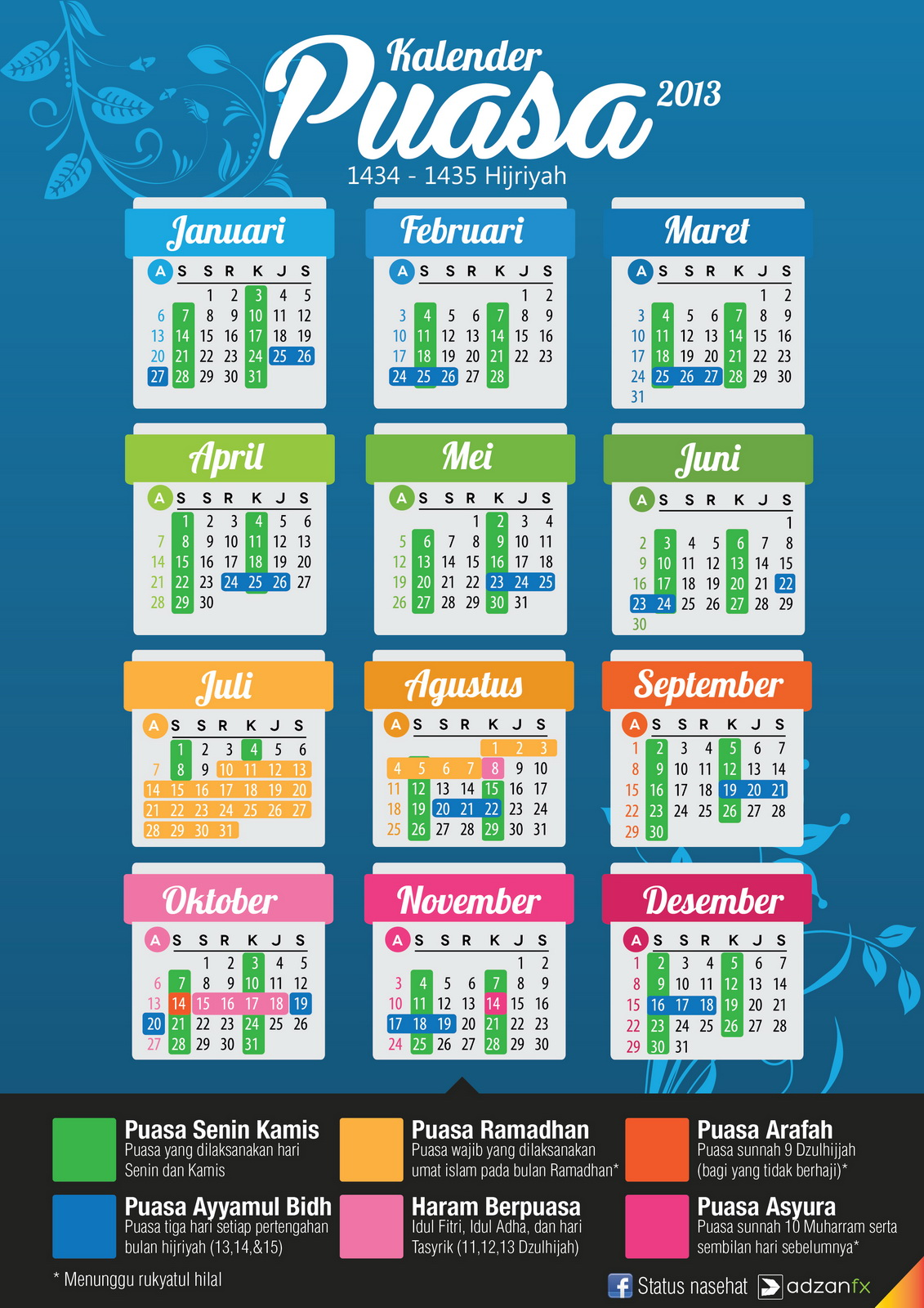 Kalender Puasa 2015