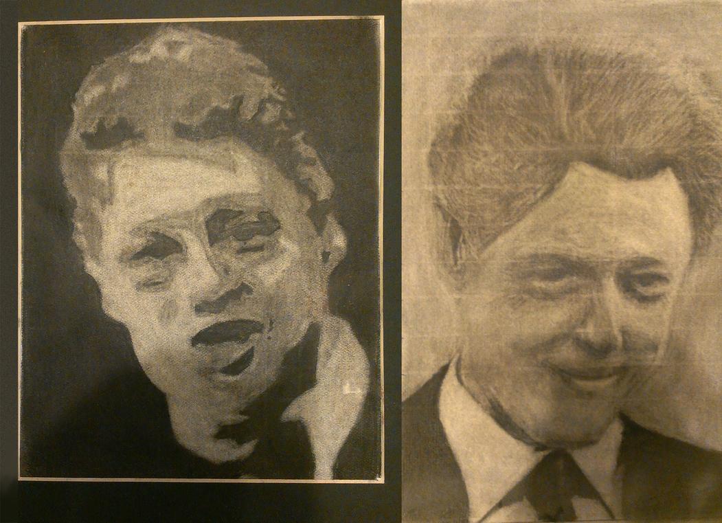 Bill Clinton Charcoal by Kiwii3364
