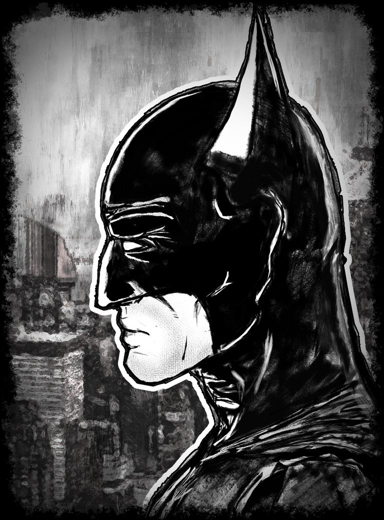 Batman Sideview Portrait by Kiwii3364