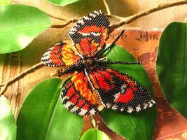 Postman Beaded Butterfly by Blackberryblvd