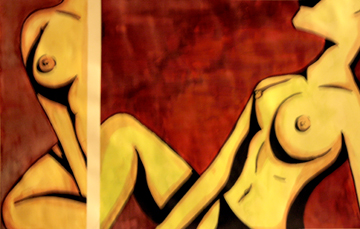 2 sides of the same nude coin by NMorrison