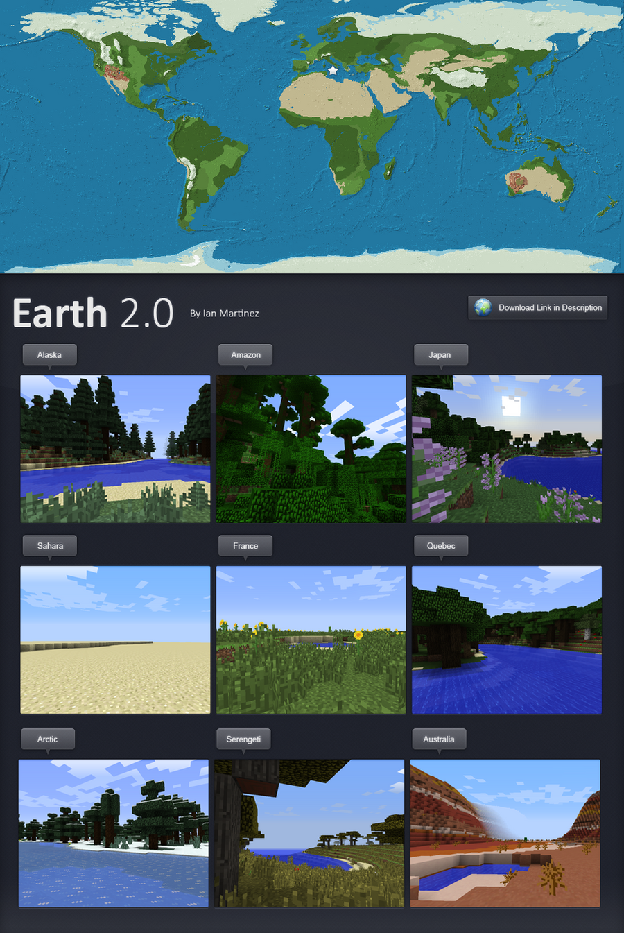 The Earth in Minecraft by kwuus