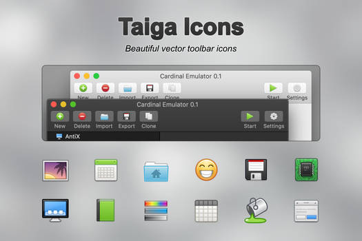Taiga SVG/PNG Icon Pack (360+ icons)