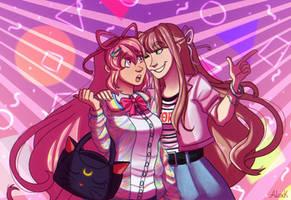 Monika and Giffany
