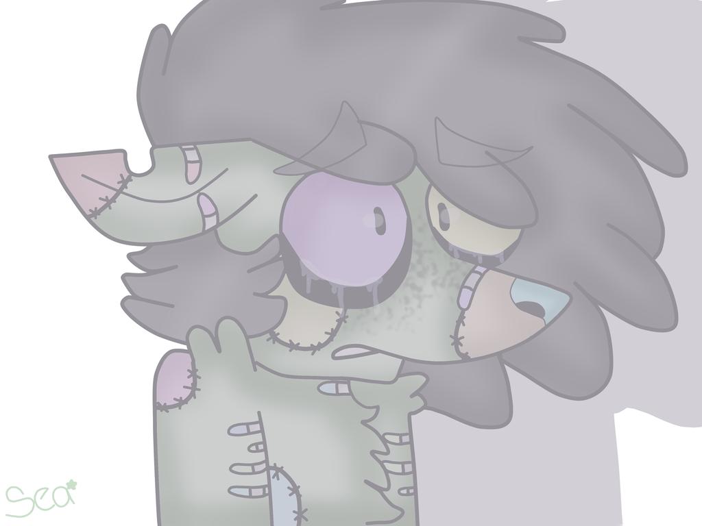 (OC ART) Sad Doggo by XxSquidInkXx
