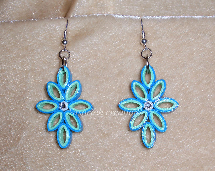 Quilling Earrings Designs Images : Quilling earrings by OmbryB on DeviantArt