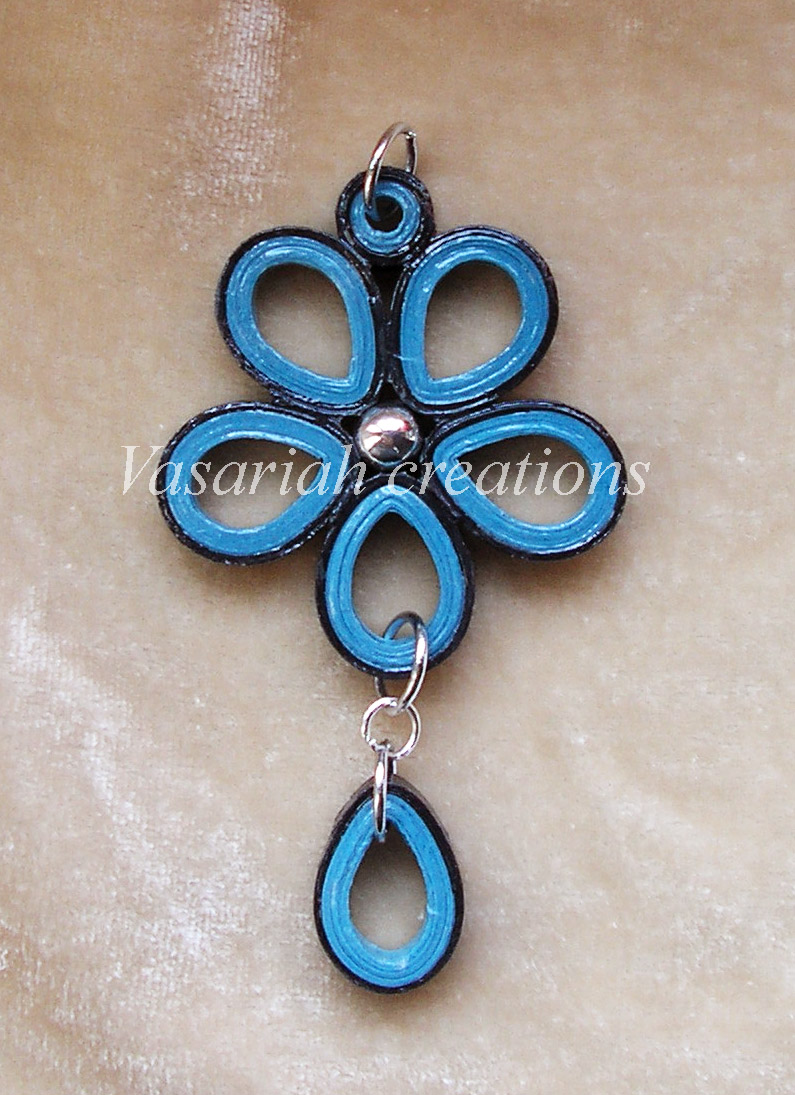 Quilling Earrings Basic Designs : Flower quilling pendant by OmbryB on DeviantArt
