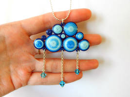 Quilling cloud pendant by OmbryB