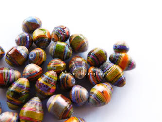 Multi colored handmade paper beads by OmbryB