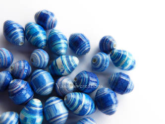 Blue paper beads set by OmbryB